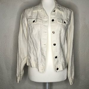 Charter Club Woman White Off Jacket S